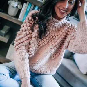 As Peppy As You Are Pom Pom turtle neck sweater